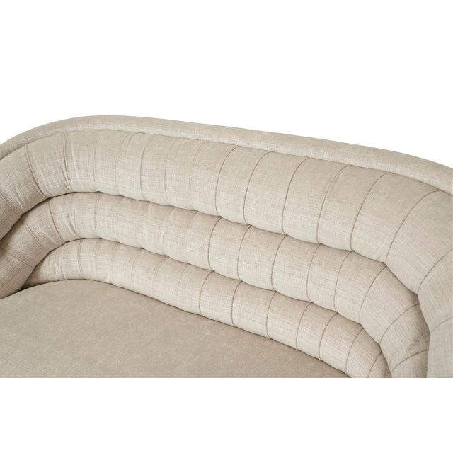 Vladimir Kagan Vladimir Kagan Crescent Sofa on Chrome Base For Sale - Image 4 of 6