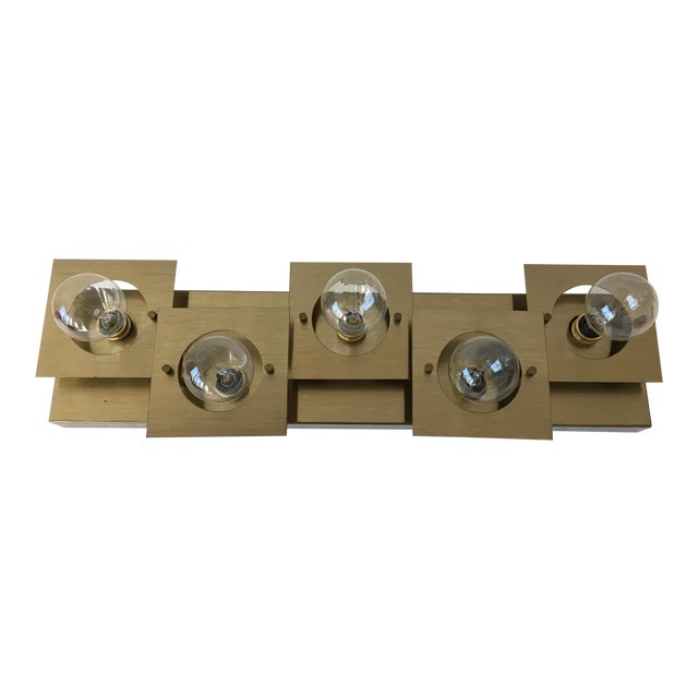 Geometric Brass Wall Lamp/Sconce For Sale