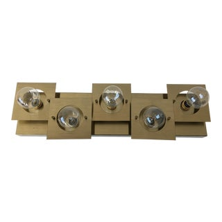 Geometric Brass Wall or Ceiling Light For Sale