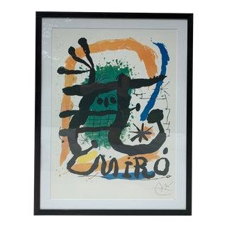 1950s Framed Miro Print For Sale
