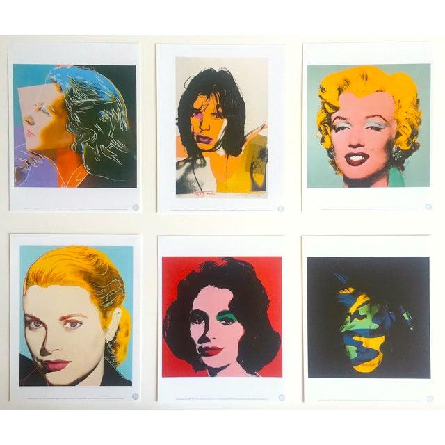 "Andy Warhol Estate Rare Vintage 1989 "" Familiar Faces "" Portfolio Collector's Pop Art Lithograph Prints - Set of 6 For Sale - Image 13 of 13"