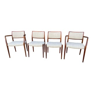 Moller Model 65 and Model 80 Rosewood Dining Chairs - Set of 4 For Sale