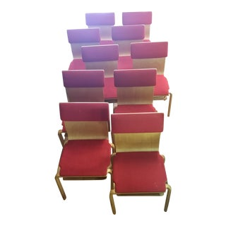 Vintage Danko Style Molded Plywood Chairs - Set of 10