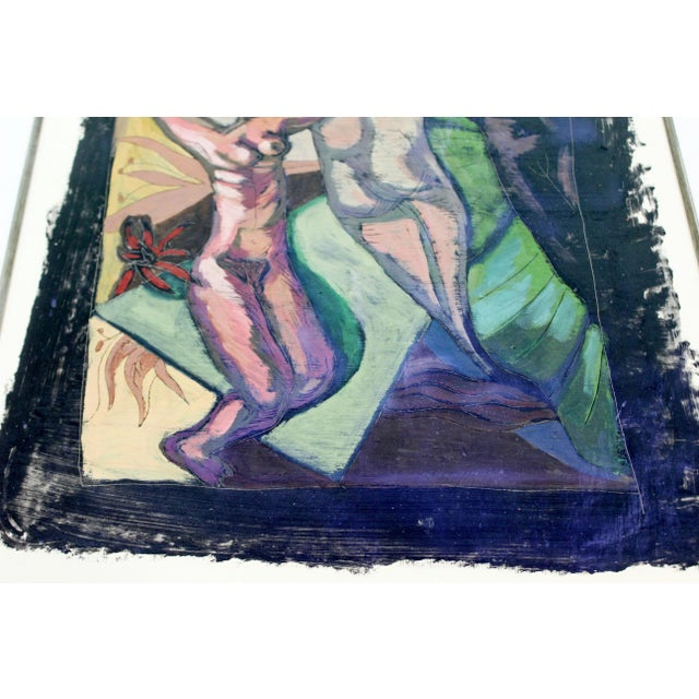 1980s Original 1980s Peter Booth Contemporary Surrealist Mixed-Media Painting For Sale - Image 5 of 9
