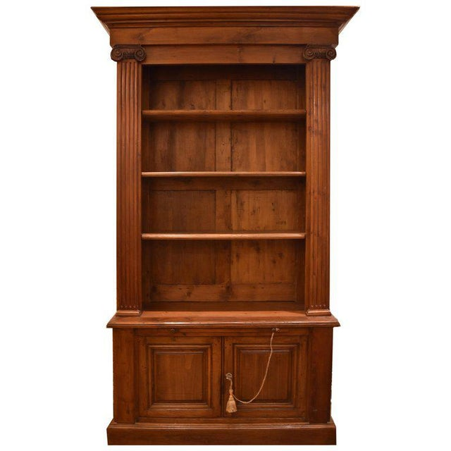 18th Century French Cherry Bibliotheque or Bookcase For Sale - Image 9 of 9