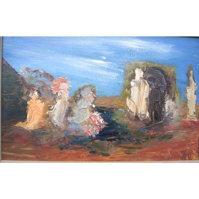 """San Francisco Surrealism"" Painting by Nancy Upstill - Image 3 of 6"