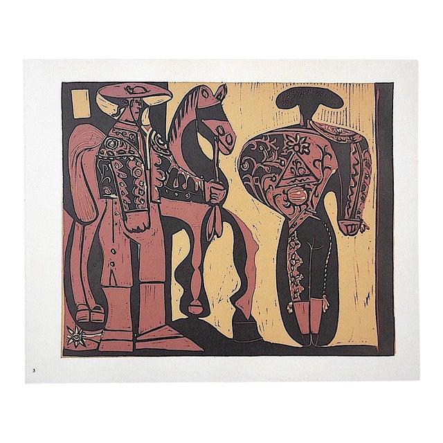 """Vintage Picasso Lithograph -""""Picador Et Torero"""" For Sale"""