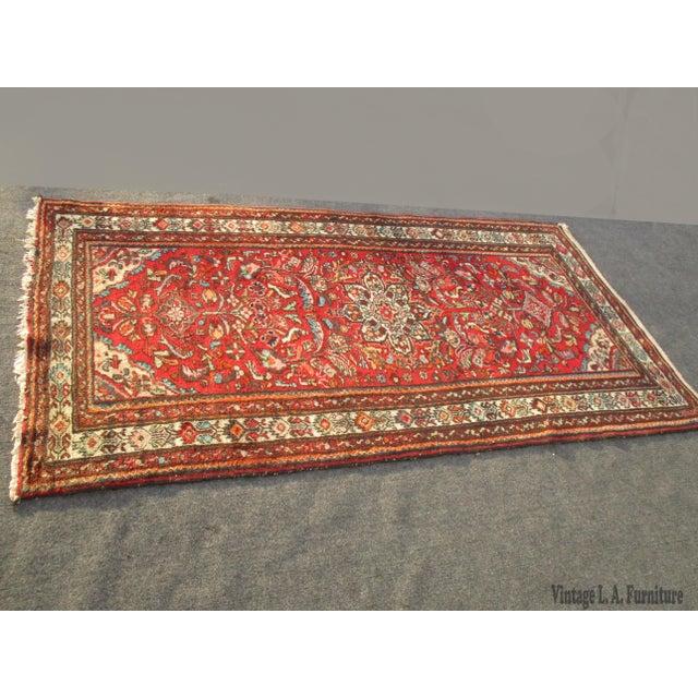 Vintage Red Floral Wool Persian Rug - 3′1″ × 6′1″ - Image 2 of 11