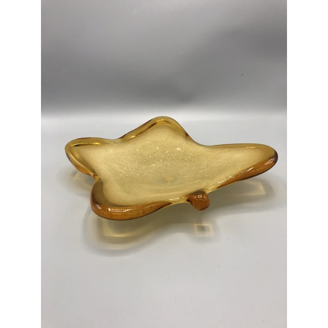 1960's Mid Century Italian Hand Blown Ashtray Sign by Murano For Sale In New York - Image 6 of 9