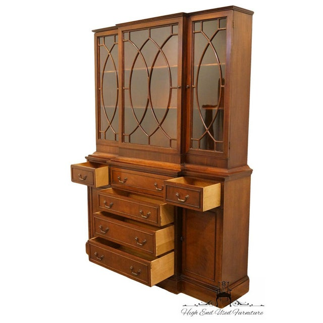 Wood 1940's Vintage Duncan Phyfe Secretary China Cabinet For Sale - Image 7 of 11