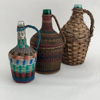 French Wrapped Demijohns - Set of 3 Preview