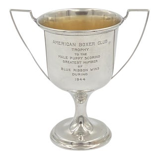 Wallace Sterling Silver Trophy, American Circa 1944 For Sale