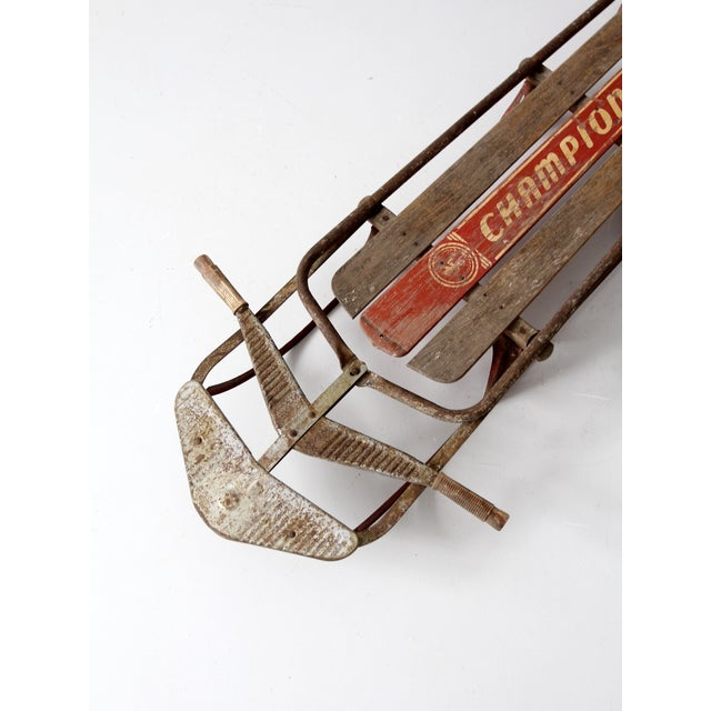 1950s Champion Sno-Liner Sled For Sale - Image 9 of 9