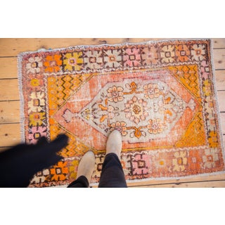 "Vintage Distressed Oushak Square Rug - 2'10"" X 4'1"" Preview"