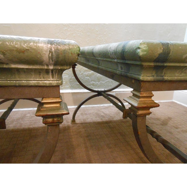 Regency Directoire X Base Iron Consoles - A Pair - Image 6 of 9