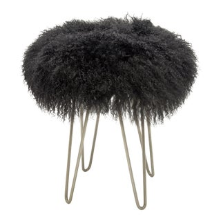 Charcoal Curly Hairpin Stool For Sale
