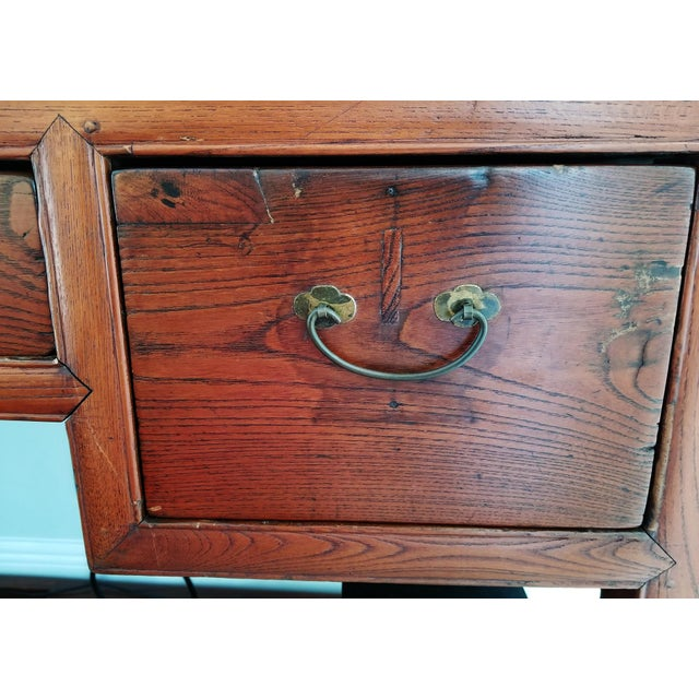 Brown Antique Asian Writing Desk For Sale - Image 8 of 11