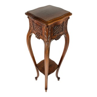 Antique Classic Hand Carved Fern Stand For Sale