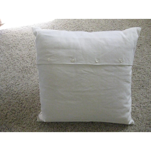 Traditional Ralph Lauren Home White Pillow For Sale - Image 3 of 6