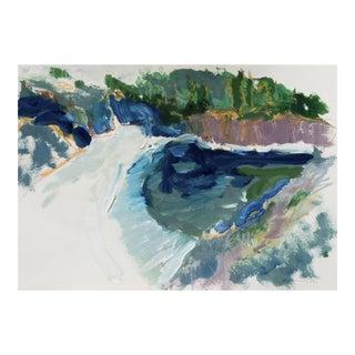 'Hidden Cove, Big Sur' by Robert Canete, Post-Impressionst California Seascape For Sale