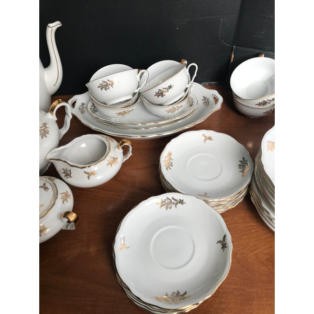 Epiag Royal Czechoslovakia. Fancy Luncheon Set. The tall coffee pot was broken during the photo shoot. which is Not...