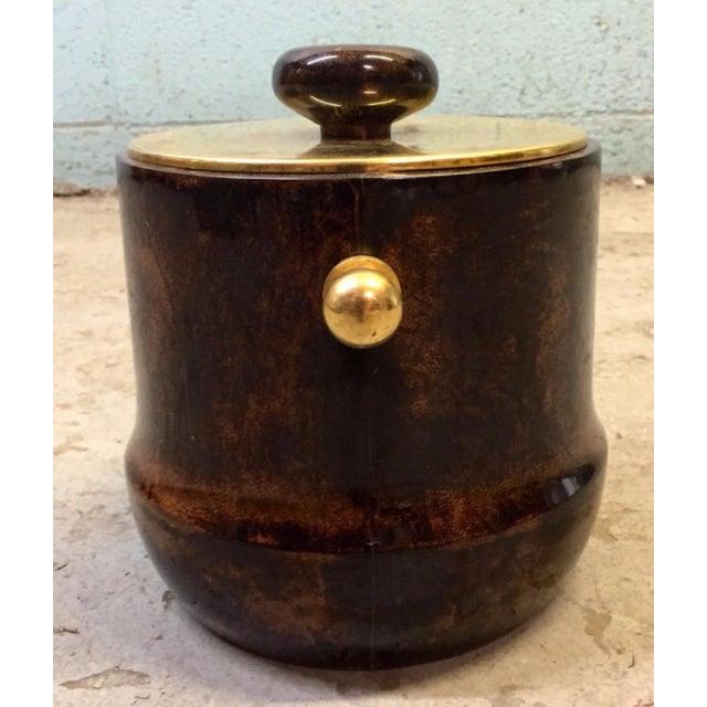Italian Mid-Century Aldo Tura Goatskin Ice Bucket - Image 5 of 6