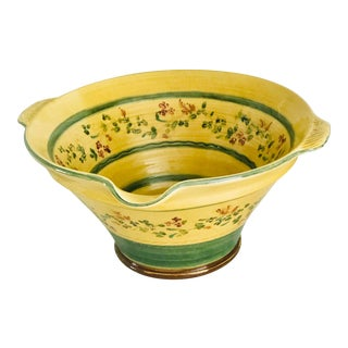 Large Hand Painted Italian Pasta Bowl For Sale