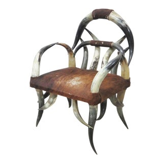 Art Noveau Horn Chair For Sale