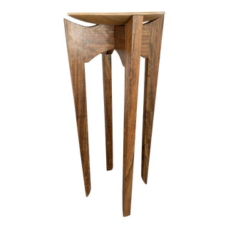 1970s Art Deco Style Maple and Walnut Accent Table For Sale