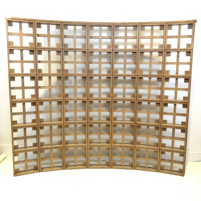 1960s Mid Century Modern Solid Wood Room Divider / Screen For Sale - Image 13 of 13