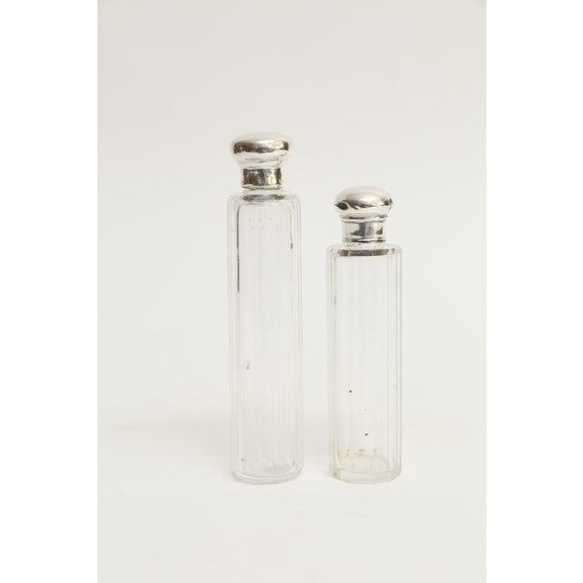 Antique Sterling & Crystal Perfume Bottles, Set of 2 For Sale In Houston - Image 6 of 6