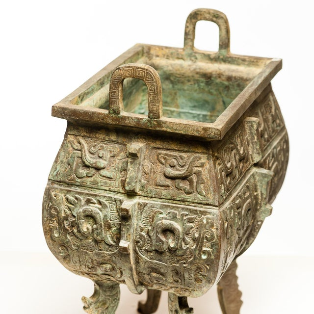 The imposing Massive Verdigris Bronze Incense Burner can anchor any room with its gravitas. It took over 7 months...