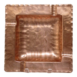1950s Craftsman Copper Ashtray For Sale