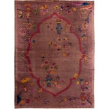 Image of Early 20th Century Antique Art Deco Chinese Wool Rug For Sale