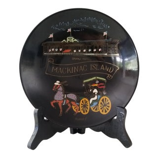 """Vintage """"Grand Hotel Mackinac Island"""" Hand Painted Bowl For Sale"""