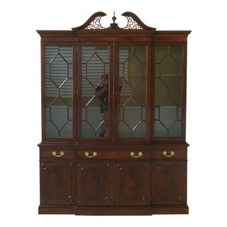 Kittinger Richmond Hill Collection Mahogany Breakfront For Sale
