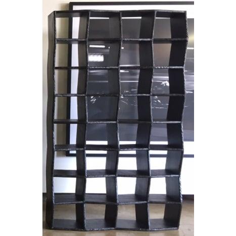 Noir Zig Zag Bookcase - Image 2 of 4
