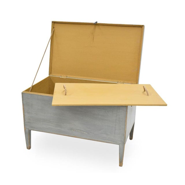 Estimated Retail Price: $1,485.00. This trunk presents a very straightforward and simple shape. It is given a distressed...