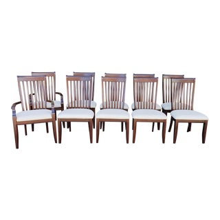 Set 10 Recent Rosewood Colored Hardwood Dining Room Chairs For Sale
