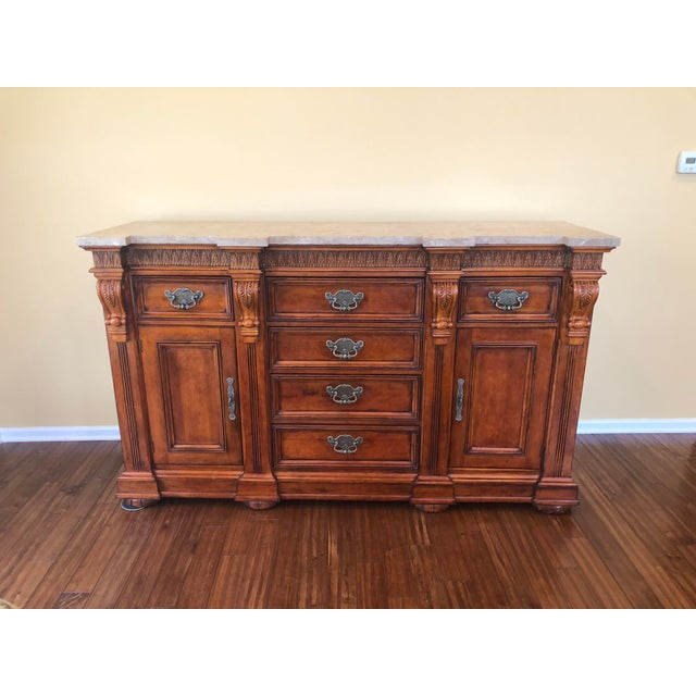 1990s Traditional Hickory White Wooden Credenza For Sale - Image 12 of 12