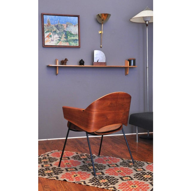 "Mid-Century Modern Jurg Bally ""Double-Shell"" Chair For Sale - Image 3 of 8"