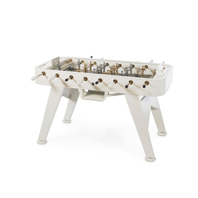 Not Yet Made - Made To Order RS Barcelona Gold Foosball Table, White For Sale - Image 5 of 5