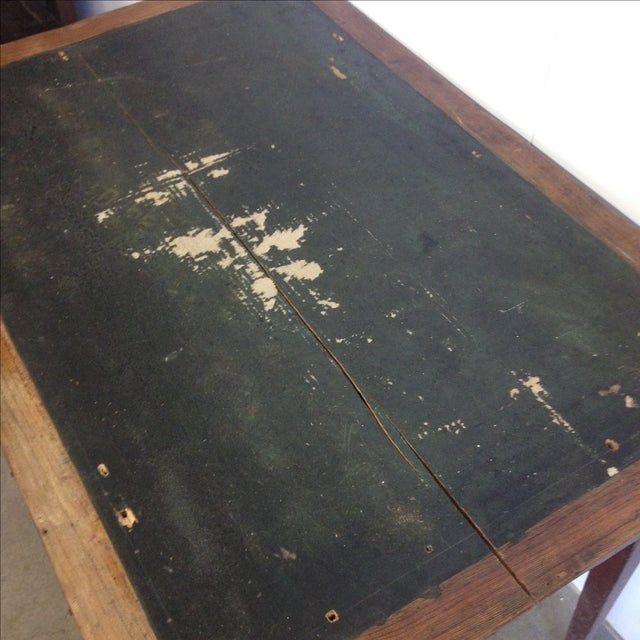 French Vintage Desk With Drawer - Image 10 of 10