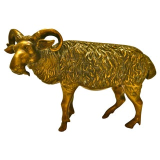 1930s Cast Brass Ram For Sale