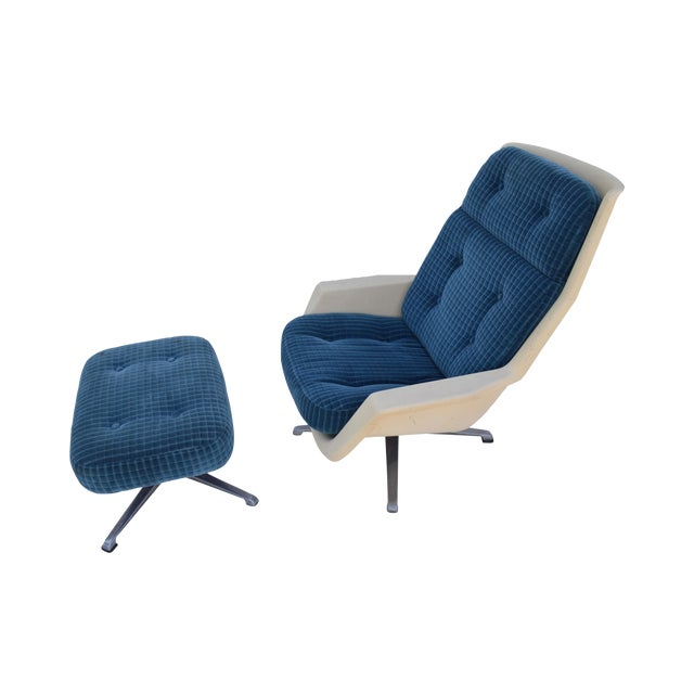 Molded Chair & Ottoman - Image 1 of 11