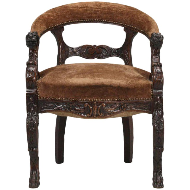Antique French Desk Chair, Circa Late 1800s For Sale - High-End Antique French Desk Chair, Circa Late 1800s DECASO
