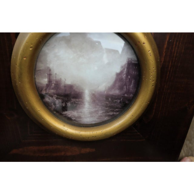 Glass Picturesque Turner Scene With Convex Glass For Sale - Image 7 of 7