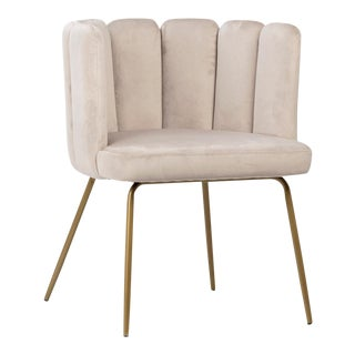Champagne Scalloped Chair For Sale