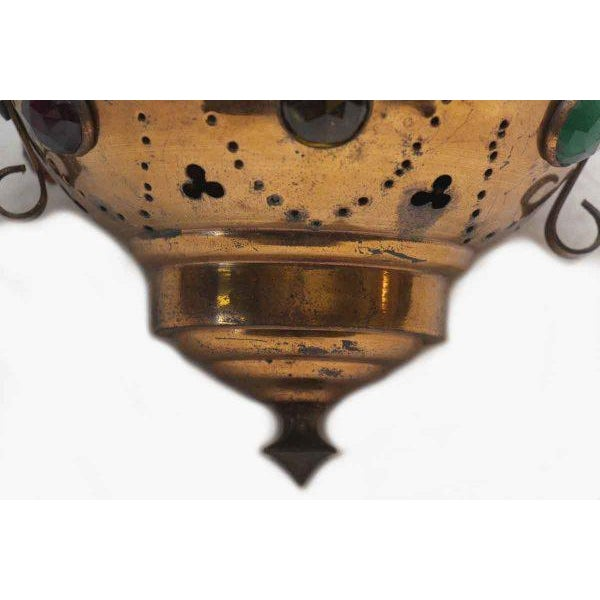 Vintage Brass Jeweled Incense Burner - Image 7 of 11