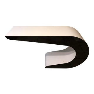Memphis Postmodern Pierre Cardin Cantilever Waterfall Console Table For Sale